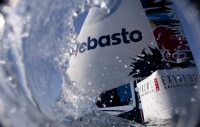 Red Bull Extreme Sailing Team rounding the race mark on the final day of the Extreme Sailing Series Asia, Muscat.